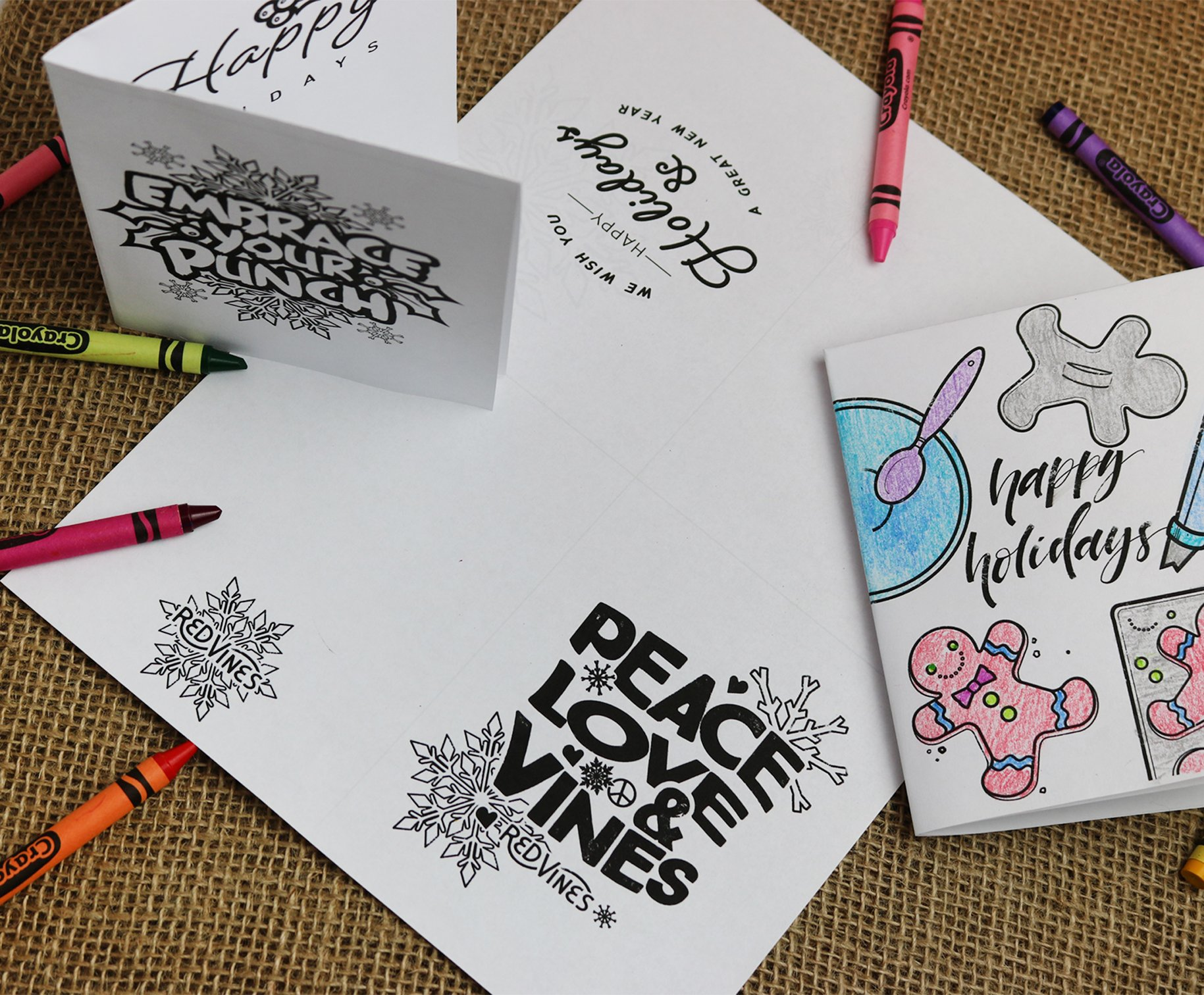Red Vines Holiday Coloring Card