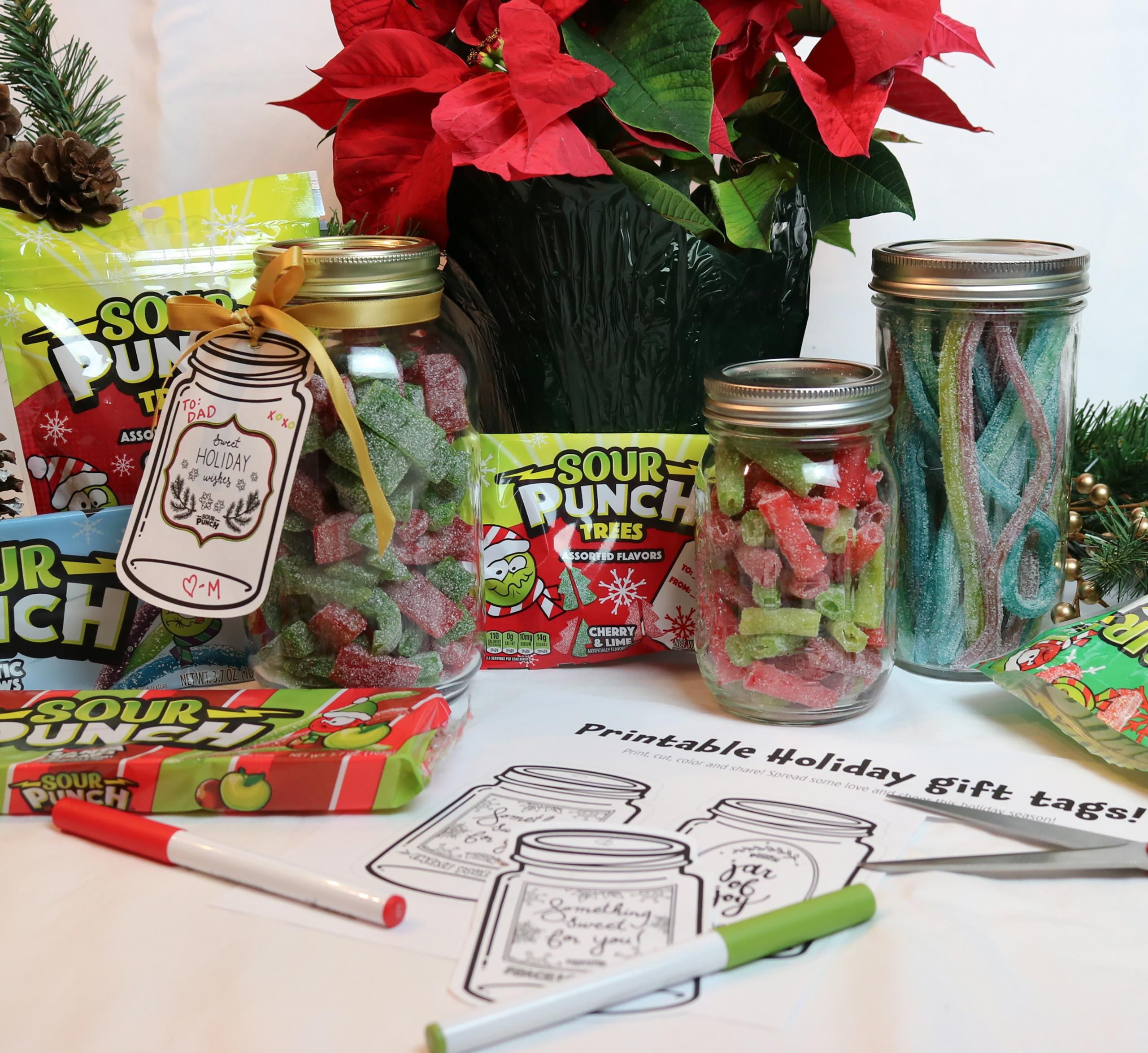 Sour Punch Holiday Jar Tag